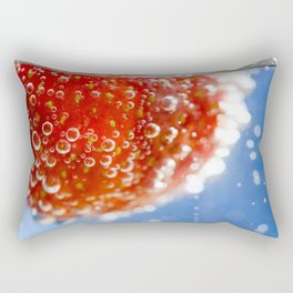Bubbly Strawberry Rectangular Pillow