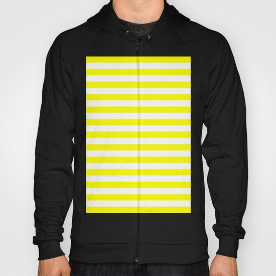 Horizontal Stripes (Yellow/White) Hoody
