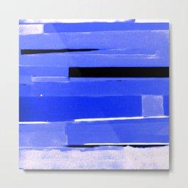 Indigo Monochromatic with Lavender Tones Metal Print