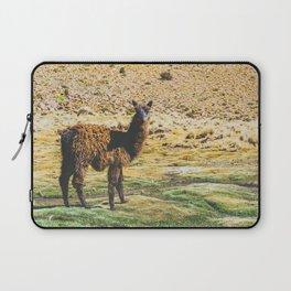 Wandering Llama in the Bolivian Desert Laptop Sleeve