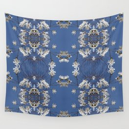 Star-filled sky (Star Magnolia flowers!) - diamond repeating pattern Wall Tapestry