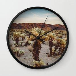 Cholla Cactus Garden II Wall Clock