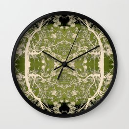 Pattern of Flowering Branches Wall Clock