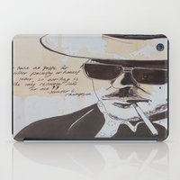 hunter s thompson iPad Cases featuring Hunter S. Thompson by Emily Storvold