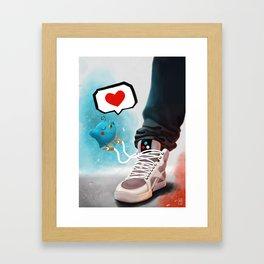 sneaker Love Framed Art Print