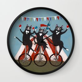 The Circus Cats Wall Clock