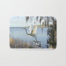 Great Egret at Lake Tarpon Bath Mat