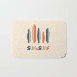 Retro Sun & Surf Surfboard Bath Mat