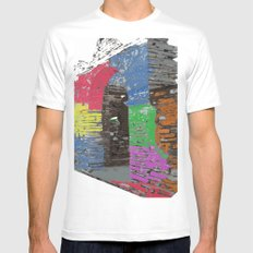 Step into colors Mens Fitted Tee White SMALL