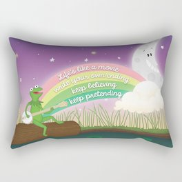 Keep Believing, Keep Pretending Rectangular Pillow