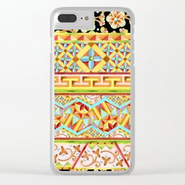 Gypsy Caravan Boho Stripe Clear iPhone Case