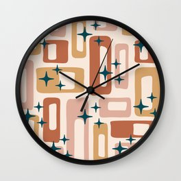 Retro Mid Century Modern Abstract Pattern 125 Wall Clock