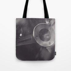 Super car details, british triumph spitfire, black & white, high quality fine art print, classic car Tote Bag