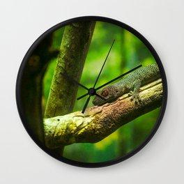 Golden Tailed Gecko Wall Clock