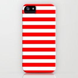 Horizontal Stripes (Red/White) iPhone Case
