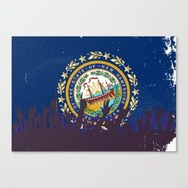 New Hampshire State Flag with Audience Canvas Print