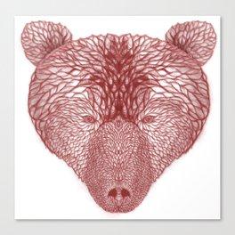 Bear in white Canvas Print
