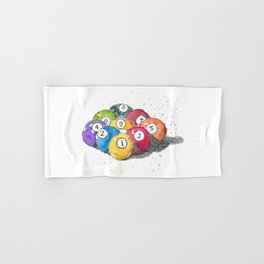 Pool balls Hand & Bath Towel