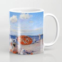William Merritt Chase - At The Seaside - Digital Remastered Edition Coffee Mug