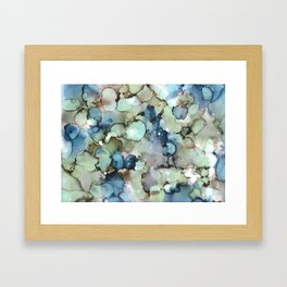 Alcohol Ink Sea Glass Framed Art Print
