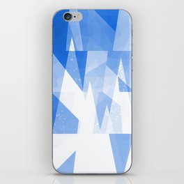 Abstract Blue Geometric Mountains Design iPhone Skin