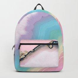 Rainbow Agate Slice Backpack