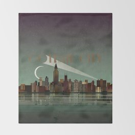 Gotham City Throw Blanket