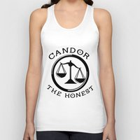 divergent Tank Tops featuring Divergent - Candor The Honest by Lunil