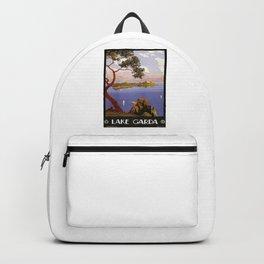 Lake garda vintage travel poster Backpack