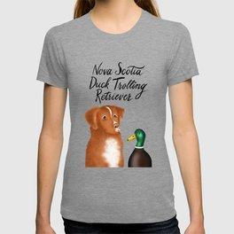 Nova Scotia Duck Trolling Retriever (Blue) T-shirt