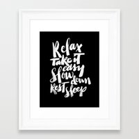 relax Framed Art Prints featuring relax by Matthew Taylor Wilson