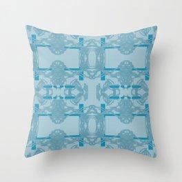 Blue Pattern 2 Throw Pillow