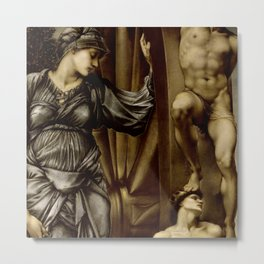 "Edward Burne-Jones ""The Wheel"" Metal Print"