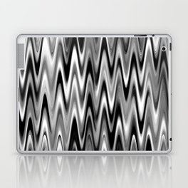 WAVY #1 (Black, White & Grays) Laptop & iPad Skin