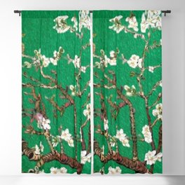 Vincent van Gogh Blossoming Almond Tree (Almond Blossoms) Emerald Sky Blackout Curtain