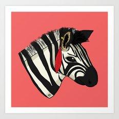Zebra Art Print
