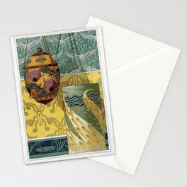 Papillons et pavots veilleuse emaux translucides Paons vase emaux cloisonnes Oiseaux tenture Caprico Stationery Cards