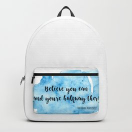 Inspirational life quote Backpack