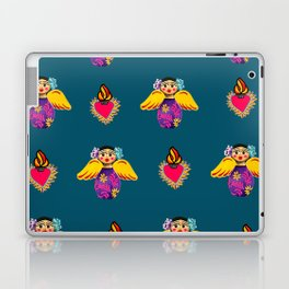 Mexican Angels and Hearts Cerulean Laptop & iPad Skin