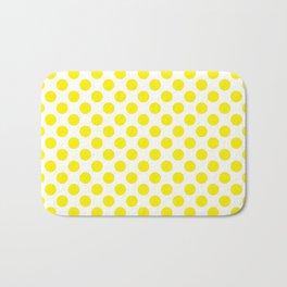 Yellow Polka Dots Bath Mat