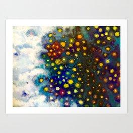 """Blue Galaxy"" Art Print"