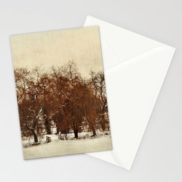Winter Red Stationery Cards