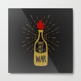Molotov Solution - Retro graphic illustration - Beyond Vintage. Metal Print