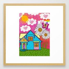 Heart House Framed Art Print