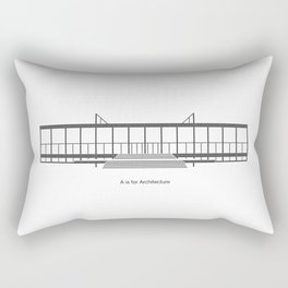Mies - A is for Architecture Rectangular Pillow