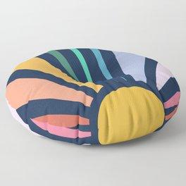 Rainbow Sunshine Floor Pillow