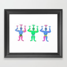 Muscle slime men Framed Art Print