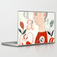 letters Laptop & iPad Skins featuring LETTERS by Sara Stefanini