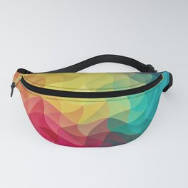 Abstract Color Wave Flash Fanny Pack