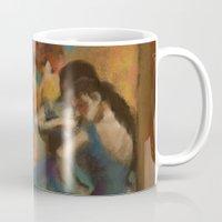 degas Mugs featuring Standing Ballerinas by Lauren Heller